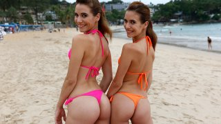 Hungarian Twins Do Bikini Shoot, Fuck The Photographer - Paradise GFs
